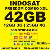 Kartu Perdana Indosat Ooredoo Freedom Combo XXL Kuota 42GB Aktif 3 Bln