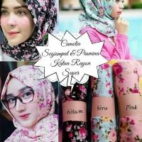 Jual pasmina jilbab shabby chic bunga Murah