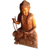 Patung Sidharta Gautama (Budha Sakyamuni) Duduk Bersila Tinggi 1 Meter