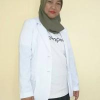Jas Dokter Wanita Lengan Panjang