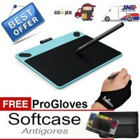 Jual Wacom Intuos Art CTH-490 Pen&Touch Mint Blue +Bonus Softcase & PROskin Murah
