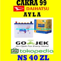 Aki mobil Daihatsu Ayla Incoe Gold Astra NS40ZL or 34B19L or 32B20L