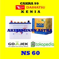 Aki mobil Daihatsu Xenia Incoe Gold Astra NS60 or 46B24R