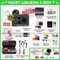 Jual Paket 3 Way Xiaomi Yi Cam Black/Hitam International - Xiaoyi Yicam Murah