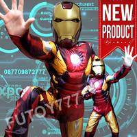 Jual Kostum Baju Iron man Ironman anak laki lelaki cosplay ulang tahun Murah