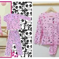Stln71 - Setelan Piyama Panda Pink Full Print Everyday Happiness