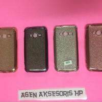 Anti CRACK 3 in 1 Samsung Galaxy V Plus Ace 4 Softcase CHROME w GLITER