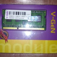 Memory RAM V-Gen DDR3 2GB PC-12800/1600 So-Dimm (Untuk Laptop)