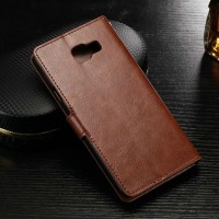 Leather Flip Cover Wallet Samsung A3 2017 A320 Dompet Kulit Case HP