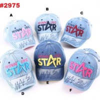 Topi Cap Anak Denim Variasi Bordir Star(rsby-2975)