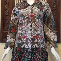 Jual Atasan Blouse Batik Wanita Lengan Panjang, Motif Ap Kmb Pekalongan 248 Murah