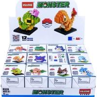 HADIAH/ MAINAN ANAK/ BLOCK & LEGO/ POKEMON MONSTER BLOCKS (12 MODELS)