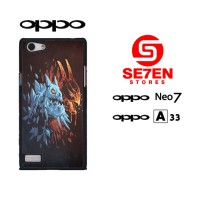 Casing HP Oppo Neo 7 (A33) Dota 2 wallpaper red blue Custom Hardcase C