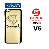 Casing HP VIVO V5 Gold Diamond Supply Co Custom Hardcase Cover