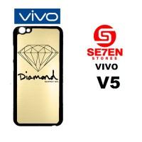 Casing HP VIVO V5 Gold Diamond Supply Co Custom Hardcase Cover