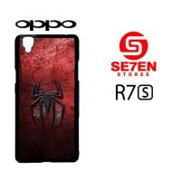 Casing HP Oppo R7S Grungy spiderman logo Custom Hardcase Cover