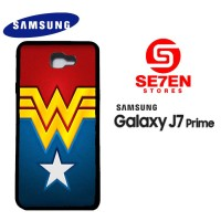 Casing HP Samsung J7 Prime Wonder Woman logo Custom Hardcase Cover