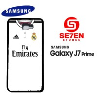Casing HP Samsung J7 Prime real madrid white 2 Custom Hardcase Cover