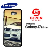 Casing HP Samsung J7 Prime White BMW M3 Custom Hardcase Cover