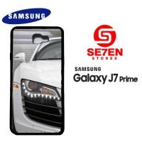 Casing HP Samsung J7 Prime White Audi r8 2 Custom Hardcase Cover