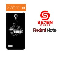 Casing HP Xiaomi Redmi Note 1 impossible is nothing Custom Hardcase