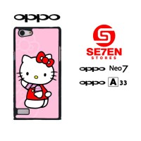 Casing HP Oppo Neo 7 (A33) Hello Kitty 3 Custom Hardcase Cover