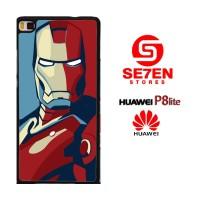 Casing HP HUAWEI P8 LITE iron man comic Custom Hardcase Cover
