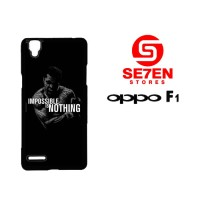 Casing HP Oppo F1 (A35) impossible is nothing Custom Hardcase Cover