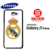 Casing HP Samsung J7 Prime Real Madrid Logo White Custom Hardcase Cove