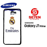 Casing HP Samsung J7 Prime real madrid white Custom Hardcase Cover
