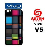 Casing HP VIVO V5 iPhone Squares Custom Hardcase Cover