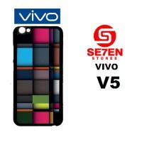 Casing HP VIVO V5 iPhone Squares Custom Hardcase Cover