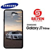Casing HP Samsung J7 Prime White Audi r8 Custom Hardcase Cover