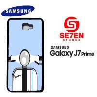 Casing HP Samsung J7 Prime Vespa white Custom Hardcase Cover