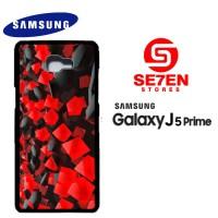Casing HP Samsung J5 Prime black red tablet Custom Hardcase Cover