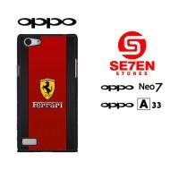 Casing HP Oppo Neo 7 (A33) Ferrari Logo 3 Custom Hardcase Cover