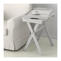 IKEA MARYD Meja baki serbaguna, bisa dilipat & baki dpt dilepas, abu2