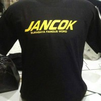 Tshirt baju kaos/ JANCOK murah keren.