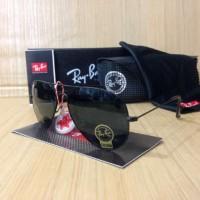 Jual Promo Kacamata Sunglass Murah Rayban Aviator Full Hitam Premium  Murah