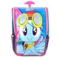 Jual Tas Troley Sekolah Anak TK Jepang My Little Pony Rainbow Pilot  Murah
