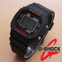 Jam Tangan G-Shock Casio Branded/ Warna Hitam list Merah/ Simple