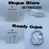 Jual Paket Charger 12W & Kabel Lightning iPhone Ipad 3 4 5 5s 6 6s 7 SE Ori Murah