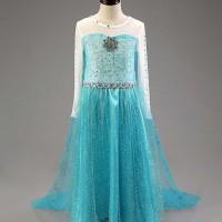 Jual NEW ARRIVAL Kostum Anna Elsa Frozen, Dress Baju Pesta Import Gaun Murah