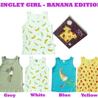Harga pakaian baju bayi singlet kazel banana isi 4 pcs premium | Pembandingharga.com