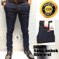 Celana Jeans Levis Slimfit saku bobok blue navy jeans
