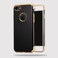 Case iPhone 7/7 Plus+/6/6s Slim Silicone Electroplate Jet black Casing