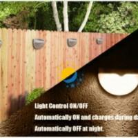 Solar Cell 6 Les Lampu Taman/Garasi Cahaya Kuning