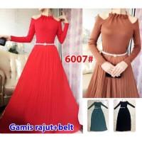 Baju Gamis Muslim Maxi Murah Rajut Sifon 6007