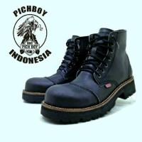 Jual Sepatu boot pria pichboy underground ujung besi hitam 100% original Murah