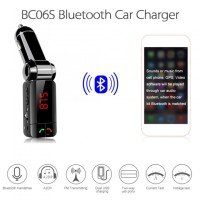 harga Bc06s Car Kit Handsfree Fm Transmitter Mp3 Player Dual Usb Charger Tokopedia.com